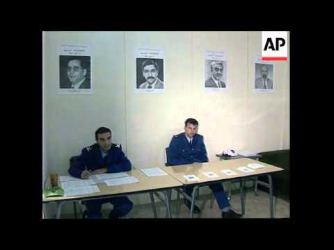 ALGERIA: PRESIDENTIAL ELECTIONS: POLICE TOLD TO VOTE 2 DAYS EARLY