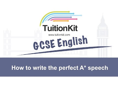 how to write the perfect speech