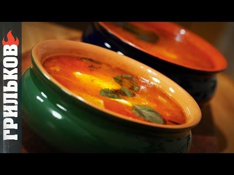 """Томатный суп: """"Лазанья"""""""
