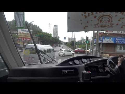 [HD]バンコク 新交通BRT 中国製のピカチュー風バス(車内)