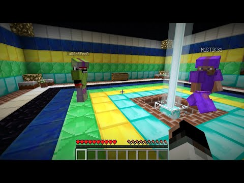 Minecraft:Прохождение карты с Мистиком и Лаггером №1