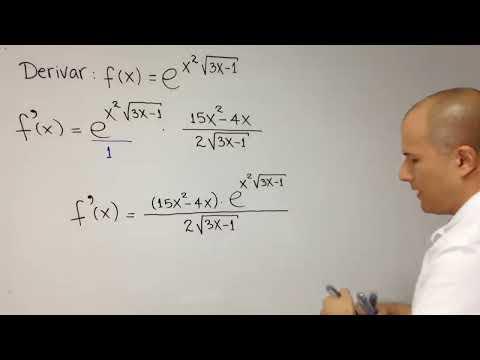 Derivada de una función exponencial con regla de la cadena