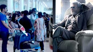 "Rajini at Chennai Airport for ""Kabali"" Shooting"