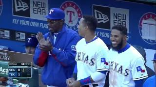 Prince Fielder connects first home run with the Rangers!