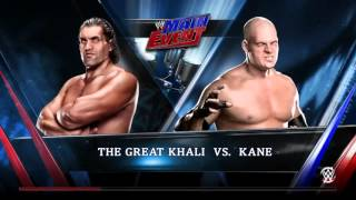 WWE 2K15 Great Khali vs Kane Normal Match 2015 (PS4) HD