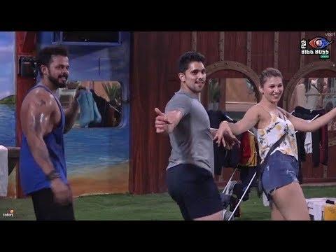 Bigg Boss 12 : Jasleen Dance With Shivashish , Sreesanth And Romil  !!