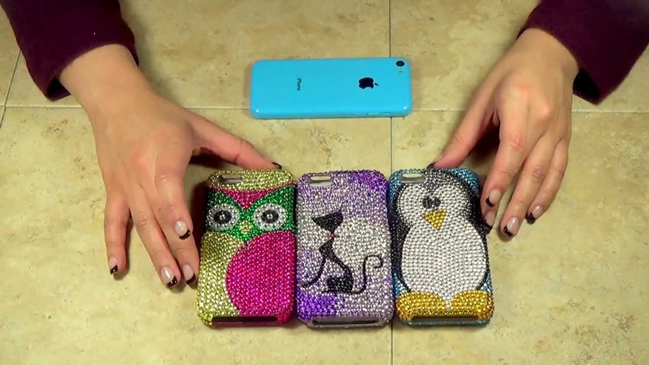 ... Diamond Bling Hard Cover Cases Review By CellCasesUSA.com - YouTube
