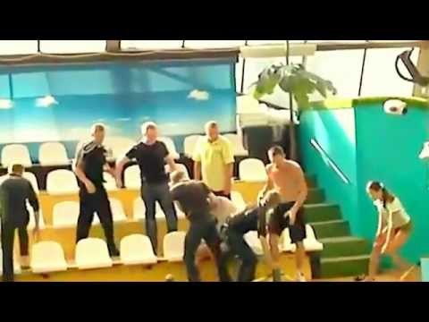 Russians Fight at a Aquarium