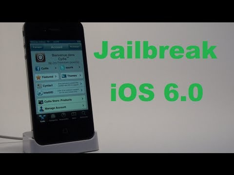 iOS 6.0 Jailbreak Tethered - iPhone 3GS / 4. iPod Touch 4G ! (Avec Cydia)