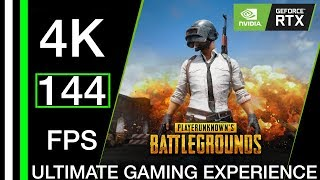 RTX 2080 TI 4K Gaming With 144 FPS in PUBG - The ULTIMATE Gaming Experience