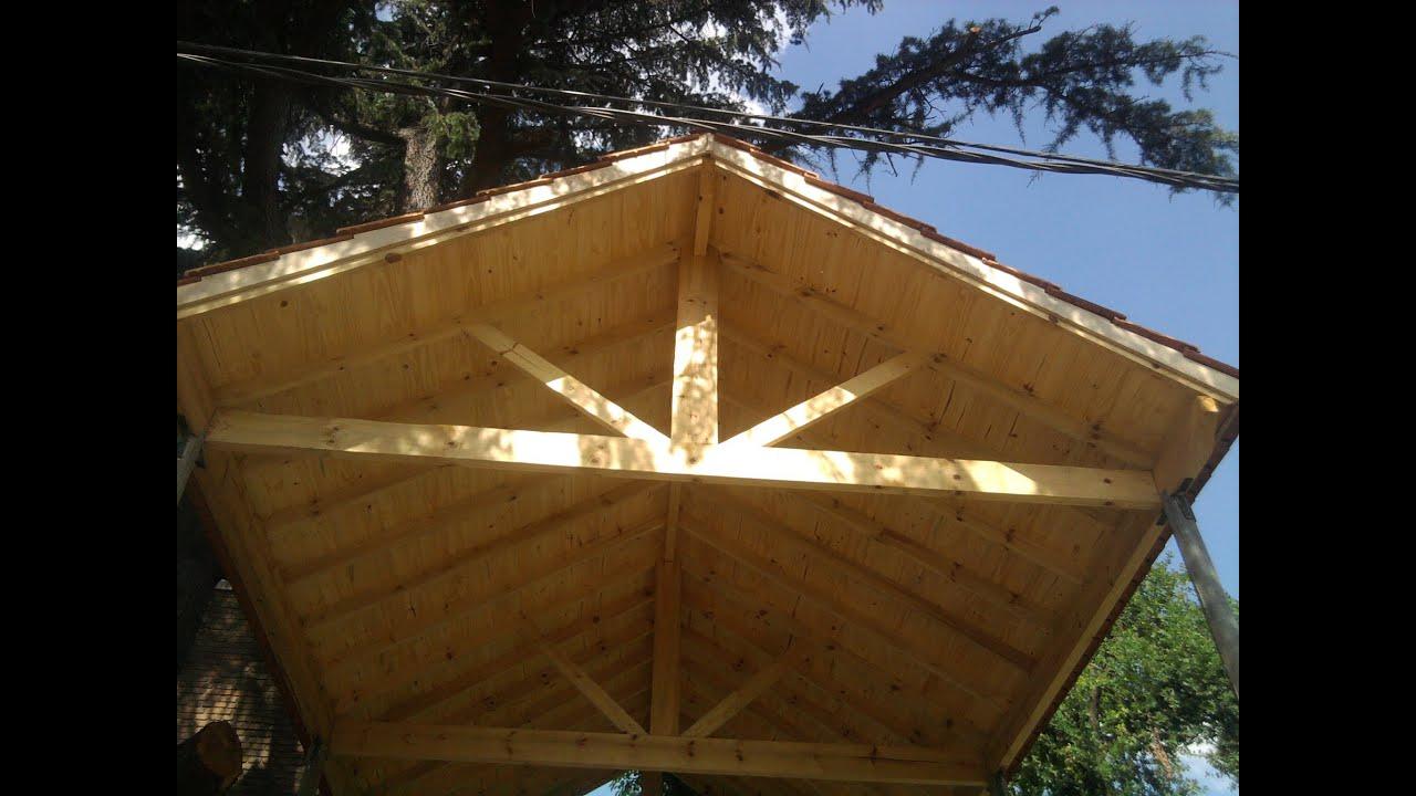 Techos de madera a la vista y tejas francesas youtube - Construir en madera ...
