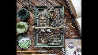 Altered photo frame DIY, step by step tutorial