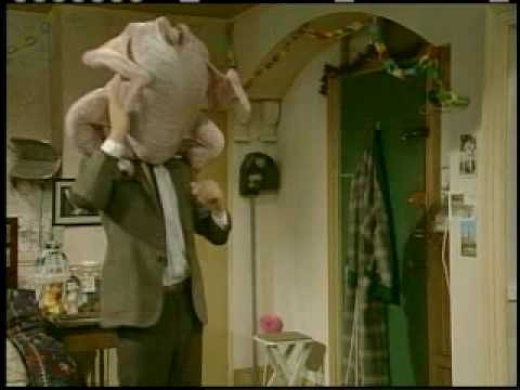 Mr. Bean Video - Mr. Bean With A Turkey On His Head video