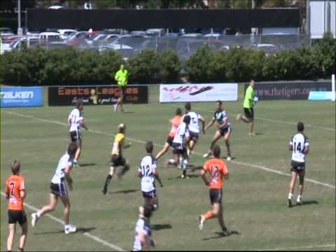Match highlights from round one of the 2012 FOGS Colts between Easts Tigers and Souths Logan Magpies at Langlands Park. Easts Tigers 28 (Corbin Kiernan 2, Wa...