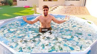 SWIMMING POOL FULL OF MONEY !!!