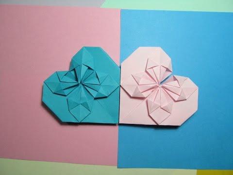 Красивые сердечки из бумаги своими руками видео