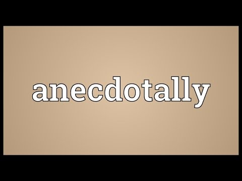 Header of anecdotally