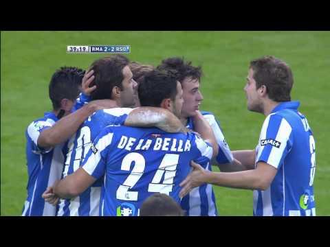 Gol de Xabi Prieto (2-2) en el Real Madrid-Real Sociedad - HD
