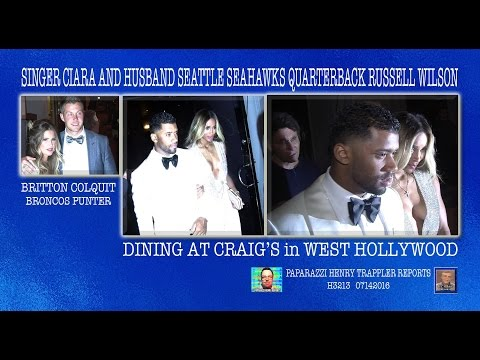 Newlyweds Singer Ciara and Russell Wilson (Seattle Seahawks Quarterback)