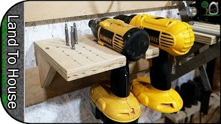 Drill and Impact Driver French Cleat - Build a workshop #58