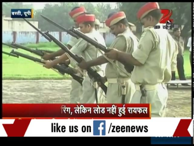 Watch: UP policeman rifles fail to fire