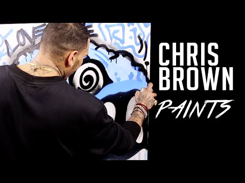 Chris Brown Free Hands Dope Grafitti Art During Hot 97 Interview (Video)