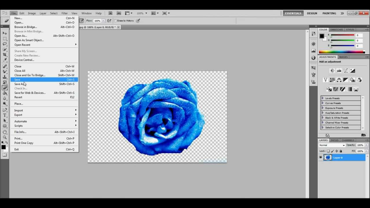 photoshop save as pdf not working