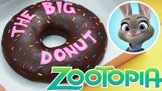GIANT ZOOTOPIA DONUT! - NERDY NUMMIES -