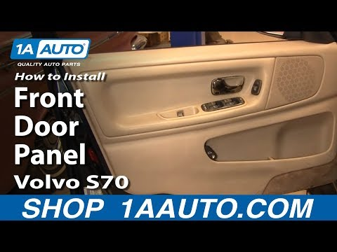 How To Install Replace Remove Front Door Panel Volvo S70 98-00 1AAuto.com