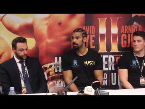DAVID HAYE v ARNOLD 'THE COBRA' GJERGJAJ - FULL POST FIGHT PRESS CONFERENCE / HAYE DAY