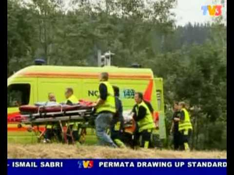 Glacier Express Train travel, crash at Fiesch, 1 killed 42 injured (Nightline 25/7/10)