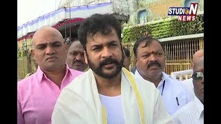 Actor Sivaji Visits Tirumala Temple