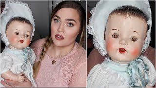 I Bought a 100+ Year Old Doll... (Is it Haunted?!) | Thrift Shopping Haul
