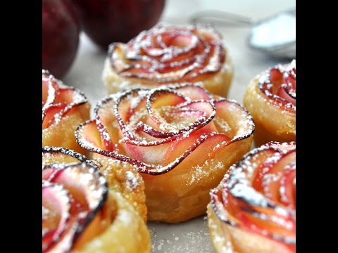 Rose Shaped Apple Baked Dessert by Cooking with Manuela