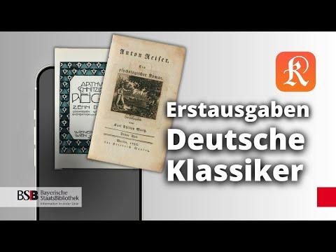 Deutsche Klassiker In Erstausgaben: 30 Klassiker Der Deutschen Literaturgeschichte In Einer App