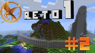 Minecraft HG || Reto 1 : Enmurallarse en la Colina || parte: #2