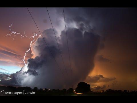 Lightning Storm Darwin Rural Area 17 Feb 2015 video