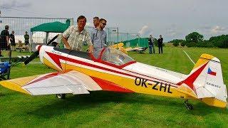 """GIGANTIC XXXL 58% 98KG SCALE 1:1,73 MODEL AIRPLANE """"ZLIN Z-526 AFS-V"""" ZDZ GAS ENGINE DEMO FLIGHT"""