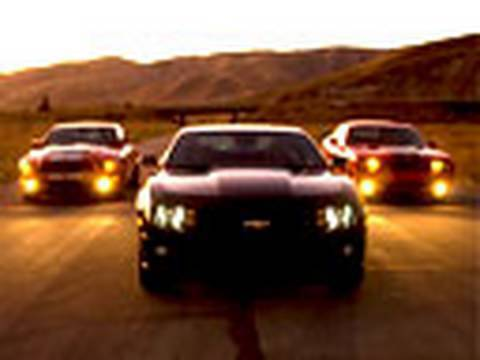 Camaro SS vs Challenger SRT8 vs Shelby GT500   Edmunds.com
