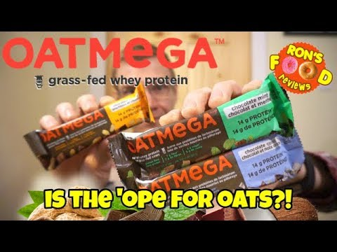OATMEGA PROTEIN BAR! TRYING 3 FLAVOURS!! PROTEIN BAR TASTE AND REVIEW!!