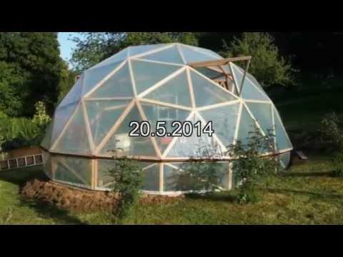 geod tische kuppel als gew chshaus im fl rsbachtal hessen youtube. Black Bedroom Furniture Sets. Home Design Ideas