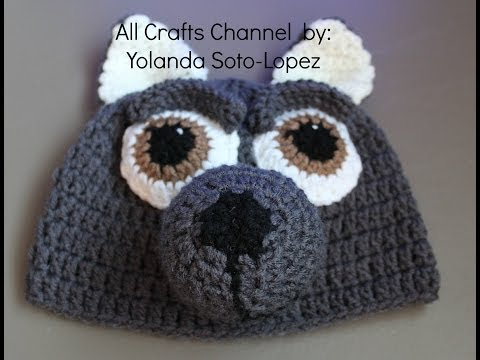 Gorro de lobo en #Crochet  - video uno