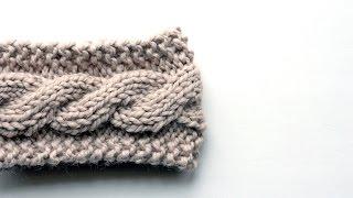 FREE Friendship Cable Headband Knitting Pattern Video