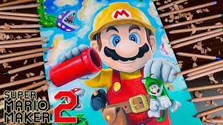 Drawing Super Mario Maker 2 - Nintendo Switch  Dibujando Super Mario Maker 2 / VideoGames characters
