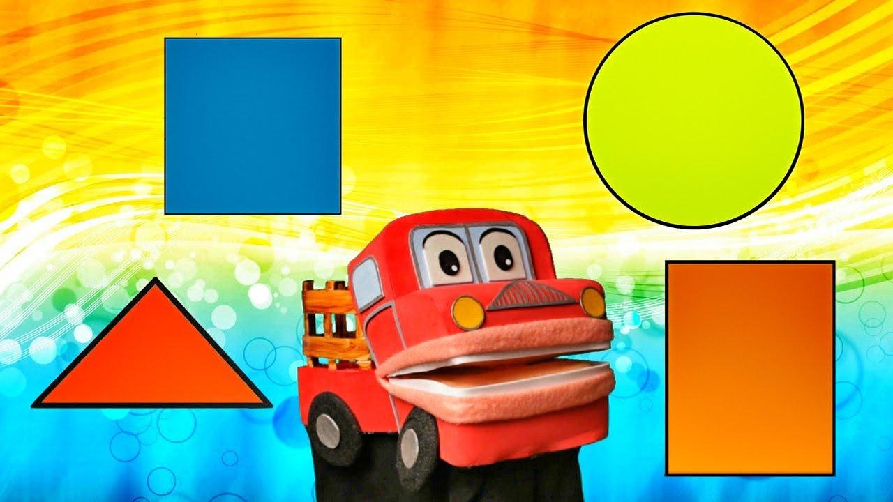 Las figuras geometricas barney el camion canciones - Dibujos pared habitacion infantil ...