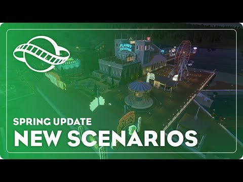 Planet Coaster - Spring Update: New Scenarios
