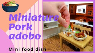 🍟 Miniature Filipino pork adobo mini food recipe : Mini edible food cooking show