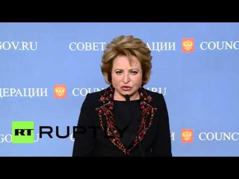 Russia: Matvienko talks $50 billion Yukos ruling and Nadia Savchenko