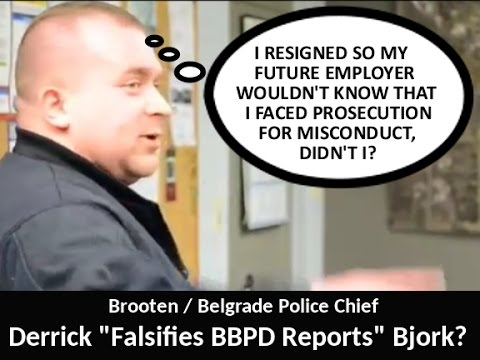 Lion News: Belgrade/Brooten Police Officer Kluver & Former Chief Bjork Reported To POST Board?
