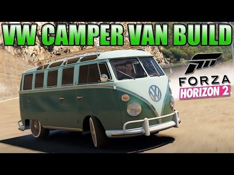 Forza Horizon 2 Custom Cars - #2 VW Camper Van + Cool Drifting Section & Dockyard